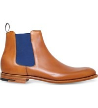 Barker Hopper Leather Chelsea Boots Tan
