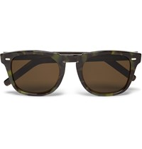 Cutler And Gross D Frame Tortoiseshell Acetate Sunglasses Green