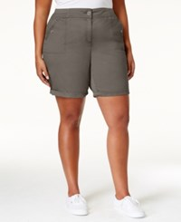 Karen Scott Plus Size Bermuda Shorts Only At Macy's Brass Iron