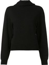 Calvin Klein Collection Hooded Jumper Black