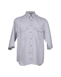 Umit Benan Short Sleeve Shirts Light Grey