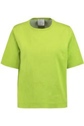 Stella Jean Ponte Knit Cotton Top Green