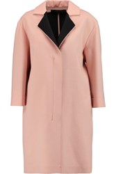 Roland Mouret Paddington Wool Coat Pastel Pink