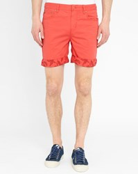 Eleven Paris Coral Risk Flowers Print Turn Up Bermuda Shorts