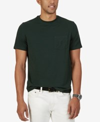 Nautica Men's Logo Pocket T Shirt Kelp Seas
