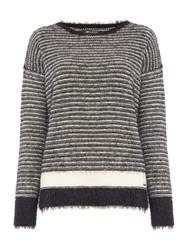 Replay Striped Mohair Jumper Black