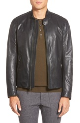 Vince 'Essential' Leather Moto Jacket Black