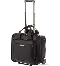Samsonite Pro Dlx 4 Two Wheel Leather Rolling Tote Black