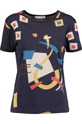 J.W.Anderson Printed Cotton T Shirt Blue