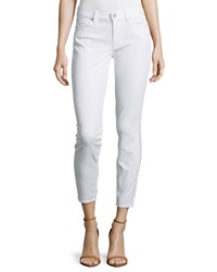 7 For All Mankind Gwenevere Ankle Crop Super Skinny Jeans Clean White