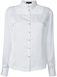 Loveless Lace Yoke Shirt White