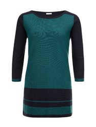 Planet Colour Block Knit Tunic Multi Coloured