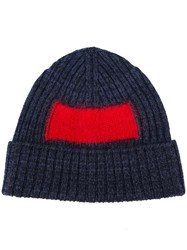 Oamc Contrast Square Beanie Blue