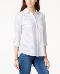 American Rag Striped High Low Shirt Only At Macy's