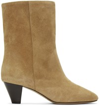 Isabel Marant Beige Suede Dyna Boots