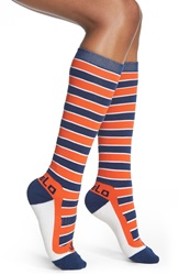 Fivelo 'Denver Broncos' Stripe Socks Navy Red Orange White