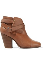 Rag And Bone Harrow Shearling Lined Leather Ankle Boots Tan