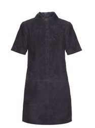 Rag And Bone Alix Suede Dress Navy