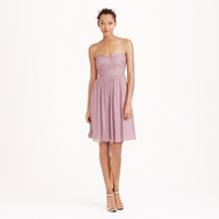 J.Crew Petite Marbella Strapless Dress In Silk Chiffon