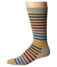 Smartwool Spruce Street Crew Oatmeal Heather Men's Crew Cut Socks Shoes Beige