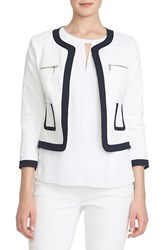 Women's Cece By Cynthia Steffe Collarless Stretch Pique Jacket
