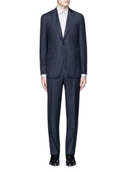 Isaia 'Gregory' Check Wool Suit Blue