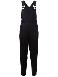 Muveil Cropped Dungarees Black