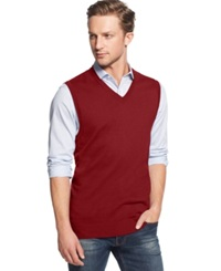 Club Room Cotton Vest Only At Macy's Anthem Red