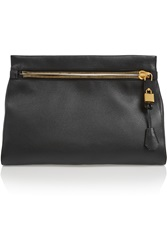 Tom Ford Alix Medium Textured Leather Clutch