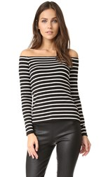 Bailey 44 Jacqueline Top Black And White Stripe