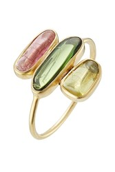 Pippa Small 18Kt Gold Ring With Tourmaline Stones Gr. 52