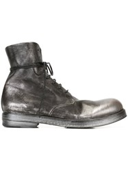 Marsell Marsa Ll Metallic Lace Up Boots