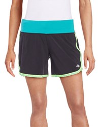 New Balance Drawstring Active Knit Shorts Green