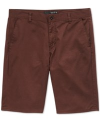 Kr3w Men's Klassic Chino Shorts Oxblood