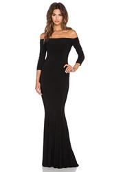 Norma Kamali Norma Kulture Off The Shoulder Fishtail Gown Black