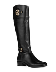 Michael Michael Kors Buckle Accented Riding Boots Black