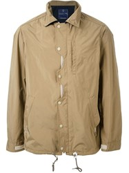Meanswhile Ventile Odd Job Flap Coach Jacket Brown