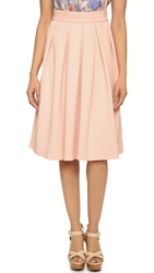 Wayf Pleated Midi Skirt Pink