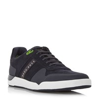 Hugo Boss Feather Tenn Rubber Toe Trainers Navy