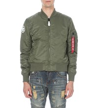 Alpha Army Shell Bomber Jacket Sage Green