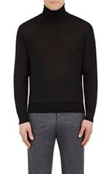 Cifonelli Men's Cashmere Silk Turtleneck Sweater Black