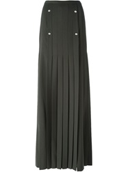 Versus Pleated Maxi Skirt Green