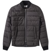 Officine Generale Barry Quilted Bomber Jacket Black