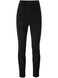 Dolce And Gabbana Floral Jacquard Trousers Black