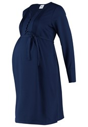 Mama Licious Mlbutto Summer Dress Navy Blazer Dark Blue