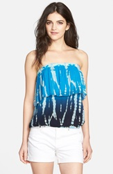 Young Fabulous Broke 'Oceanside' Strapless Overlay Top Blue Rain Ombre