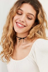 Urban Outfitters Velvet Bow Choker Necklace Black