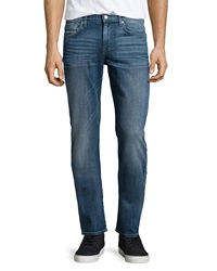 7 For All Mankind Slimmy Straight Leg Jeans Midtown Blue
