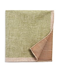 The Men's Store At Bloomingdale's Solid Houndstooth Check Pocket Square Green Tan