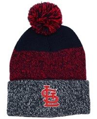 47 Brand '47 St. Louis Cardinals Static Pom Knit Hat Navy Red Gray